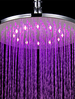Contemporary Rain Shower Chrome Feature for  LED , Shower Head