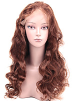 8-24 Inch Full Lace Wigs Body Wave Medium Brown #2 100% Brazilian Virgin Human Hair With Baby Hair