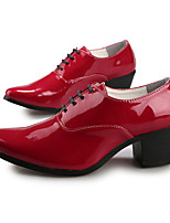 Men's Shoes Office & Career/Party & Evening/Casual/Patent Leather Oxfords Black/Red/White