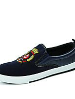 Men's Shoes Office & Career / Casual Canvas Loafers Black / Blue / Red