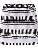 Women's  Casual Sexy Bodycon   Cute  Above Knee Skirts   (cotton)