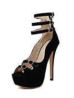 Women's Shoes  Stiletto Heel Heels Pumps/Heels Outdoor/Dress Black