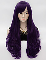 Loita Long Wavy Hair Cosplay Wig  Heat Resist Synthetic Party hair Purple Dark