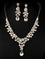 Golden Multicolor Zircon Jewelry Set for Wedding Party