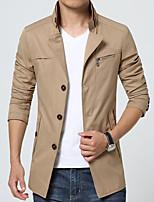 The New England Men's windbreaker coat plus-size fashion long-sleeved jacket coat leisure coat HXTX-6831