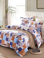 Geometry Cotton Bedding Set Of 4pcs