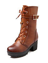Women's Shoes Chunky Heel Round Toe Boots Casual More Colors available