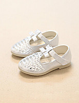 Girls' Shoes Outdoor/Casual Mary Jane Glitter Flats Pink/Silver