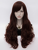 Charming Women Loita Long Curly Hair Cosplay Wig Heat Resist Synthetic Party hair Dark Brown