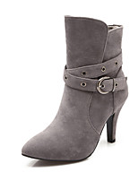 Women's Shoes  Stiletto Heel Combat Boots/Pointed Toe Boots Dress Black/Gray/Beige
