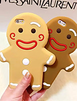 cassa del telefono silicone gingerbread man per iPhone 6S 6 Plus