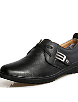 Bigs Size 38-47 Men's Shoes Office & Career / Party & Evening / Casual Leather Oxfords Black / Brown