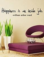 impression devise «le bonheur est un travail intérieur