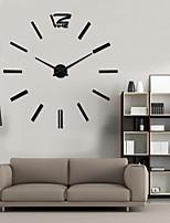 Uermerstar Fashion Design Black color Large Wall Clock Home Decor 3D Diy Clock Diameter 39 in