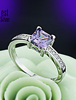 925 Sterling Silver Diamond Ring for Women South Korean Drill The Engagement Ring J051