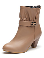 Women's Shoes Chunky Heel Fashion Boots/Pointed Toe Boots Dress Black/Brown/Khaki