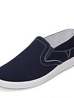 Herenschoenen-Buiten / Casual / Sport-Zwart / Blauw / Rood-Canvas-Modieuze sneakers / Instappers