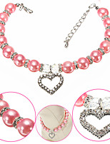 Durable Noble Pearl Rhinestone Necklaces S/M/L Pet Jewelry Collar for Pet Dogs and Cats (Assorted Colors and Sizes)