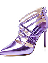Women's Shoes Stiletto Heel Heels / Pointed Toe / Closed Toe Sandals Dress Black / Green / Pink / Purple / Silver / Gold