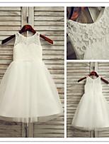 Flower Girl Dress Ankle-length Lace/Tulle A-line Sleeveless Dress