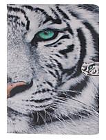 motif de tigre blanc cuir PU cas de tout le corps avec support et une carte slot pour ipad mini3 / Mini iPad 2 / ipad mini-