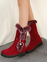 Women's Shoes Platform Fashion Boots/Round Toe Boots Dress/Casual Black/Red