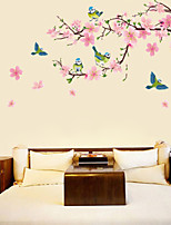 Peach Blossom And Birds Wall Stickers
