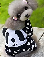 FUN OF PETS® Panda Pattern Dots Costume Coat with Pants for Pets Dogs (Assorted Sizes)