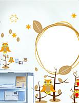 hibou de chambre muraux autocollants pour enfants