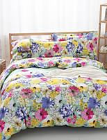 algodão floral cama conjunto de 4pcs em verde / vermelho quatro temporadas uso