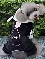 FUN OF PETS® Cow Shape Costume Coat wit Hoodie and Pants for Pets Dogs (Assorted Sizes)