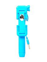 super mini filaire selfie bâton avec miroir de poche porte-bâton monopode portable auto-portrait pour iphone