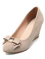 Women's Shoes  Wedge Heel Heels/Round Toe Pumps/Heels Dress Black/Blue/Red/Beige