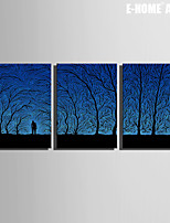 E-HOME® Stretched Canvas Art Under The Shadow of The People Decorative Painting Set of 3
