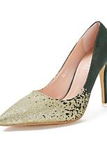 Women's Shoes Fleece Stiletto Heel Heels Pumps/Heels Casual Black/Green/Gray