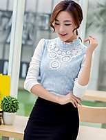 xiw&F Women's Cause//Lace/Plus Size Long Sleeve Blouse(Chiffon/Lace)