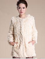 Ms fashion for autumn/winter warm imitation fur coat coat