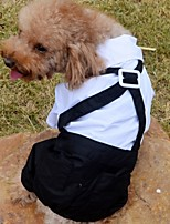 FUN OF PETS® Gentleman Style Black Overalls Pants for Pets Dogs (Assorted Sizes)