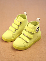 Girls' Shoes Outdoor / Athletic / Casual Comfort / Closed Toe Fabric / Stretch Satin Fashion Sneakers Yellow / Red