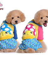 FUN OF PETS® Cute Mushroom Printing Coat with Pants  for Pets Dogs (Assorted Sizes and Colours)