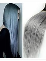 3Pcs/Lot Cheap New Brazilian Virgin Straight 1B/Grey Ombre Hair Extensions Silver Grey Hair No Tangle No Shedding