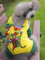 FUN OF PETS® Clown Pattern Costume Coat with Pants for Pets Dogs(Assorted Sizes)