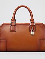 Women 's Cowhide Doctor Shoulder Bag/Tote - Brown