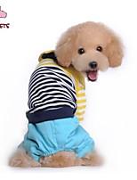 Casacos / Calças - Inverno - Vermelho / Azul - Casamento / Fantasias - de Algodão / Malha polar - para Cães / Gatos - S / M / L / XL / XXL