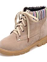 Zapatos de mujer - Tacón Bajo - Punta Redonda / Punta Cerrada - Botas - Oficina y Trabajo / Vestido / Casual - Ante -Negro / Marrón /