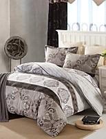 brown floral Baumwolle Bettwäsche-Set von 4pcs vier Jahreszeiten Verwendung