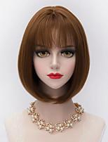 30cm Short Straight Bobs Hair With Air Bang Synthetic Harajuku Lolita Lady Wig