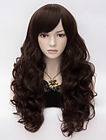 Womens Girls Fashion Kinky Curly Long Hair  Colorful Side Bang  Full Wigs