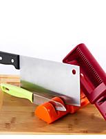retráctil sacapuntas doble cuchilla pull-through cuchillo de doble utensilios de cocina afilador (color al azar)
