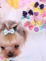 FUN OF PETS® Lovely Bownot Shaped with Words Printing Hairpin for Pets Dogs (Assorted Colours)